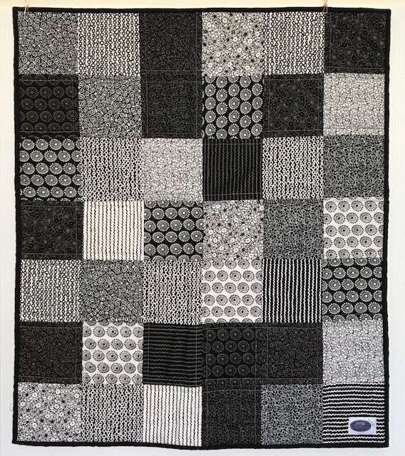 This gorgeous Monochrome bassinet quilt measures 76cm x 70cm and has been made using the traditional 3 layer method, it has then been quilted and finished with 2-fold binding to ensure it is lasts from baby to beyond. AUD $135