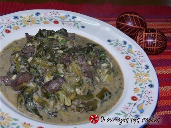 Μαγειρίτσα αλά φρικασέ #sintagespareas #magiritsa #pasxalina