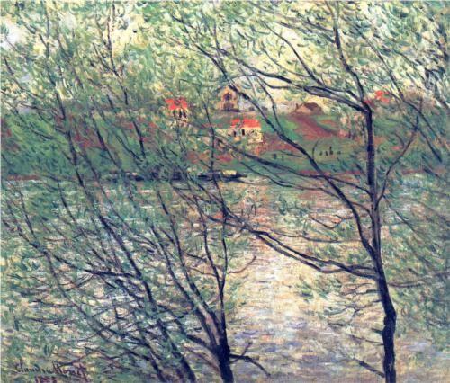 The Isle Grande-Jatte - Claude Monet