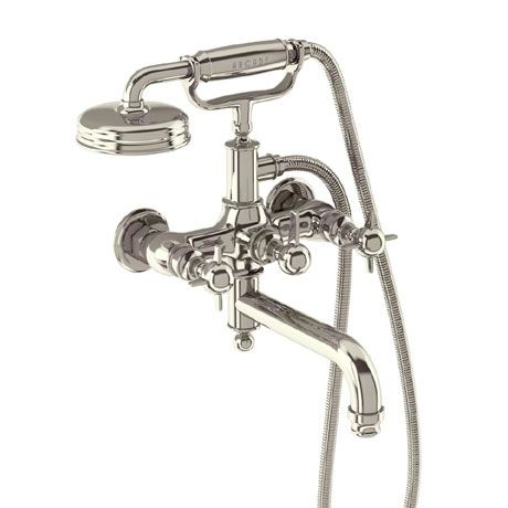Arcade Wall Mounted Bath Shower Mixer - Nickel - Various Tap Head Options