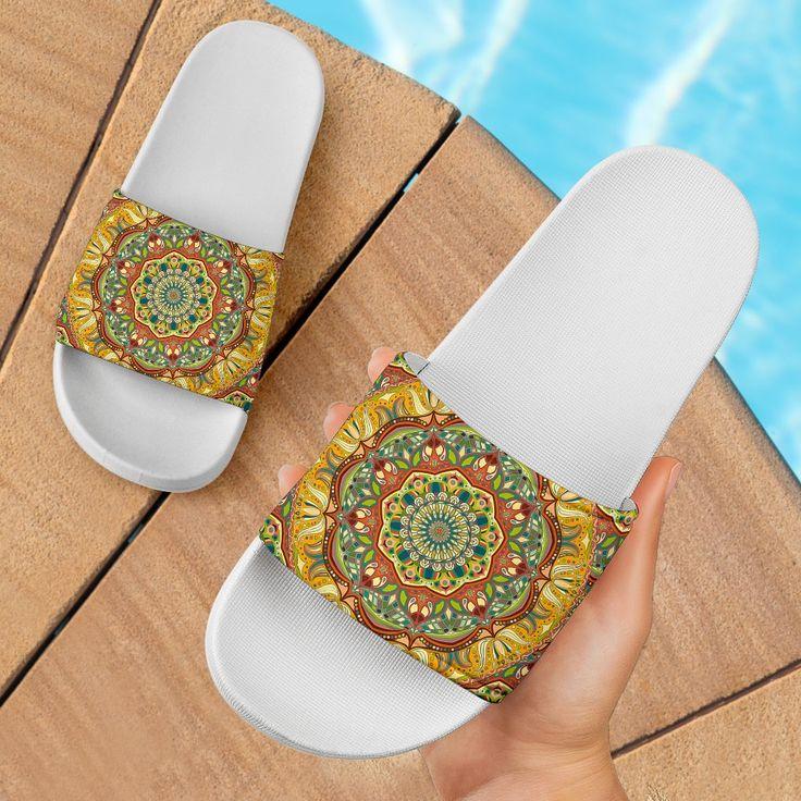 Ornamental Orange Summer Slide Sandals