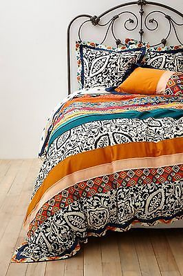 NIP ANTHROPOLOGIE Florence KING Duvet Cover+2 Standard Shams Cotton Bedding
