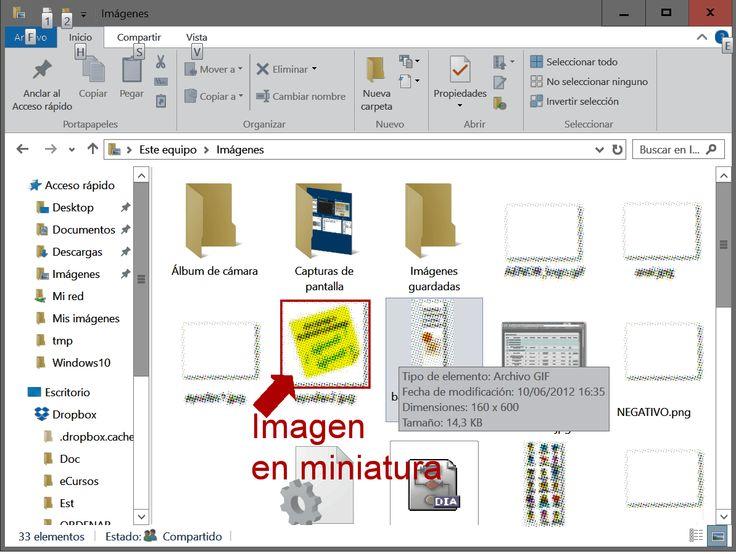 Iconos con imágenes en miniatura