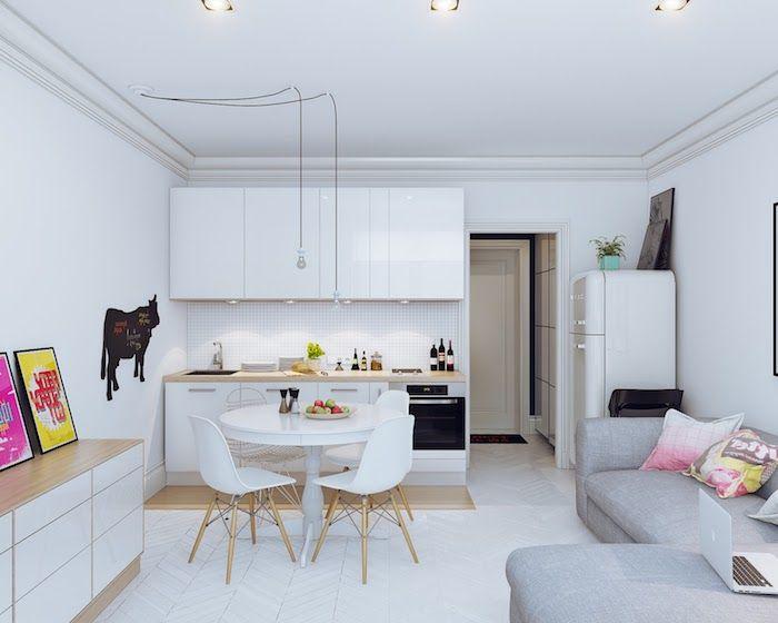 ▷ 1001 + idées pour aménager une cuisine ouverte dans l\u0027air du - Cuisine Ouverte Sur Salle A Manger Et Salon