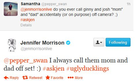 Jennifer Morrison on calling Ginny Goodwin and Josh Dallas Mom and Dad