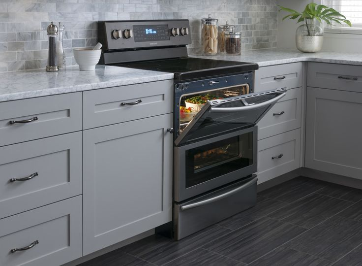 new black stainless steel appliances from samsung fingerprint resistant home decor. Black Bedroom Furniture Sets. Home Design Ideas