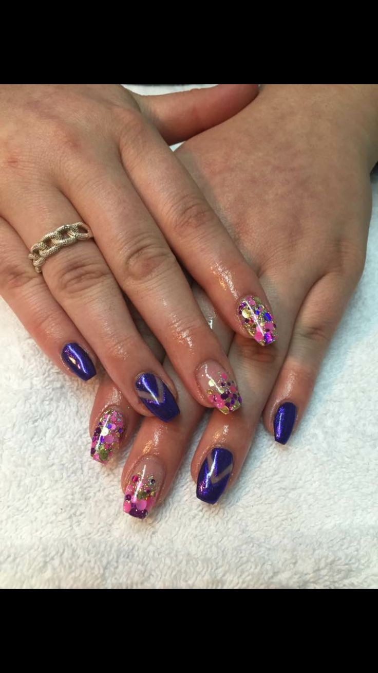 Nails by Julia. Using bio sculpture gel and glittergasm glitters