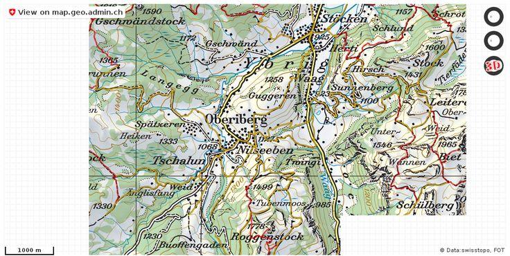 Oberiberg SZ Wanderwege Karte trail http://ift.tt/2x3oIJ4 #geoportal #mapOfSwitzerland