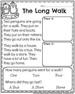 1st Grade Worksheets for January | Best of First Grade ...