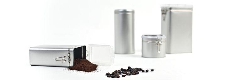 Eine Auswahl unserer aromdichten Dosen für z. B. Kaffee