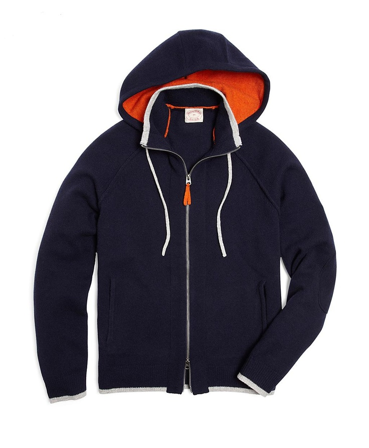 Lambswool Hoodie .... Nice: Men Clothing, Ss16 Men, Lambswool Hoodie, Men Fashion, Brother Classic, Hoodie Navy, Brooks Brother Shirts, Classic Men, Yes Plea