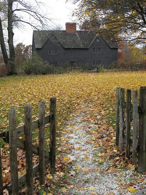 /\ /\ . John Whipple House, late 1600s, Ipswich, Massachusetts