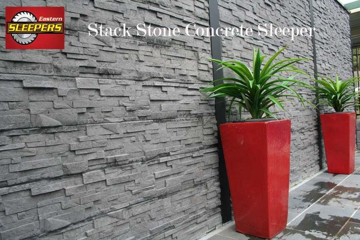 Stack Stone Concrete Sleeper Used for Retaining Walls Garden Design & Feature Walls