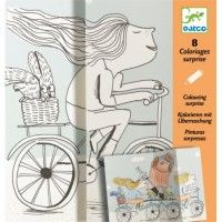 Djeco- Colouring Surprises- Mademoiselle Plus- NEW