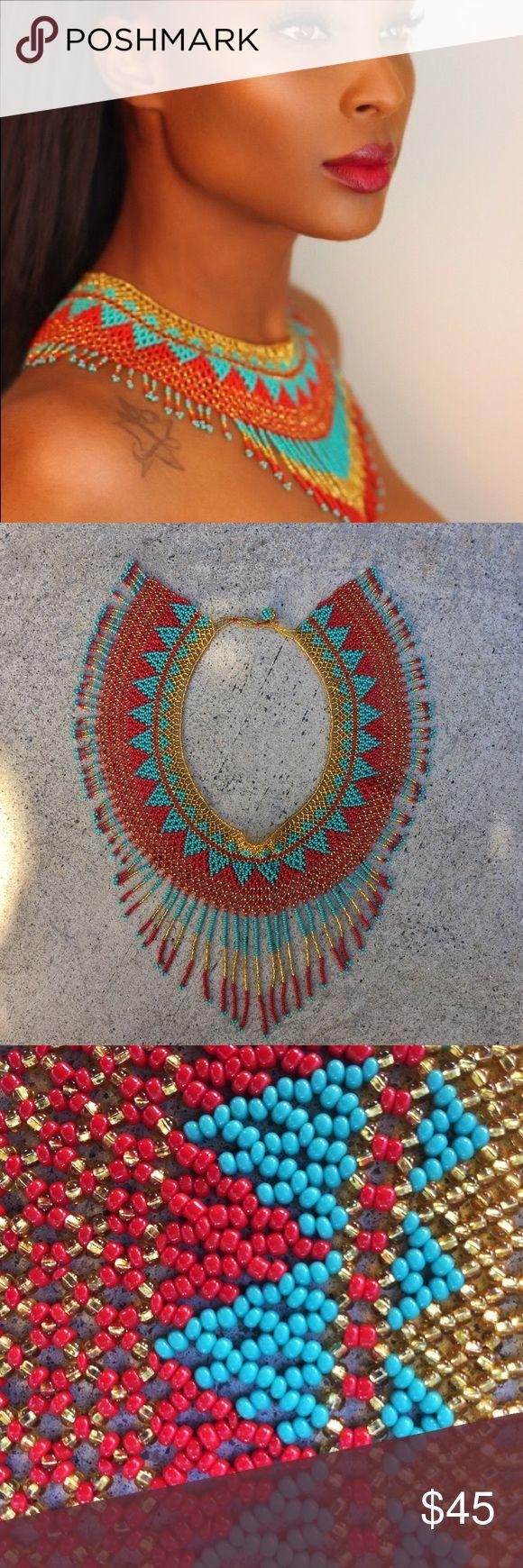 Handmade Beaded Necklace | Panama #Kuna Colorful handmade necklace bought in Casco Viejo, Panama 🇵🇦 Kuna Indian beaded neckwear | Lightly used for photo shoot! Jewelry Necklaces