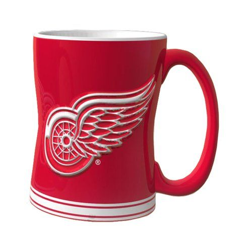 NHL Detroit Red Wings Sculpted Relief Mug, Ceramic Mug With Sturdy Handle  Holds Up To Of Liquid Bright, Eye Catching Colors Microwave And Top Rach ...