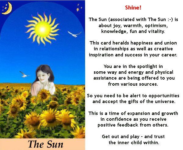 THE SUN #tarotcardmeaning