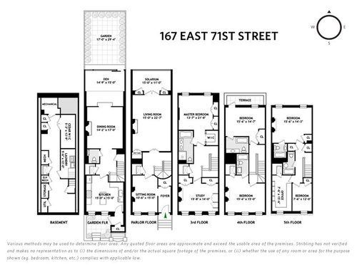 102 best images about townhouse floor plans on pinterest for Upper east side townhouse for rent