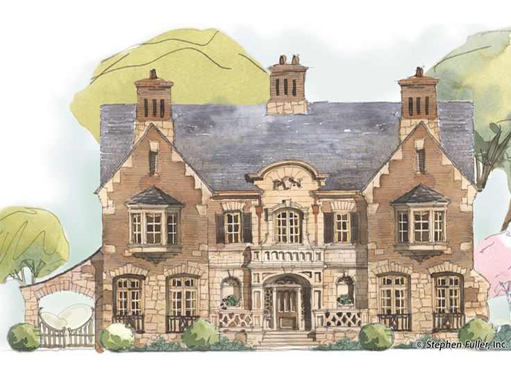 209 best my country manor house images on pinterest my for English country manor house plans