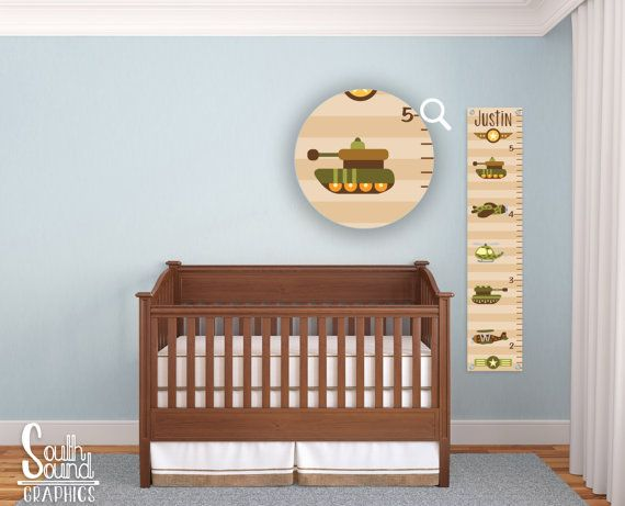 Growth Chart for Boys - Kids Room Wall Decor - Army Custom Wall Hanging - Children's Personalized Growth Chart - Kids Military Bedroom Sign
