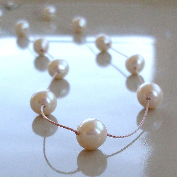 Real Pearl Necklace Bridal Pearl Necklace by PamelaCurran on Etsy, $32.00
