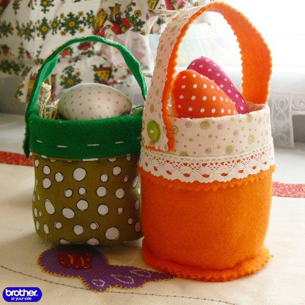 Шьем пасхальные корзинки из фетра и ткани