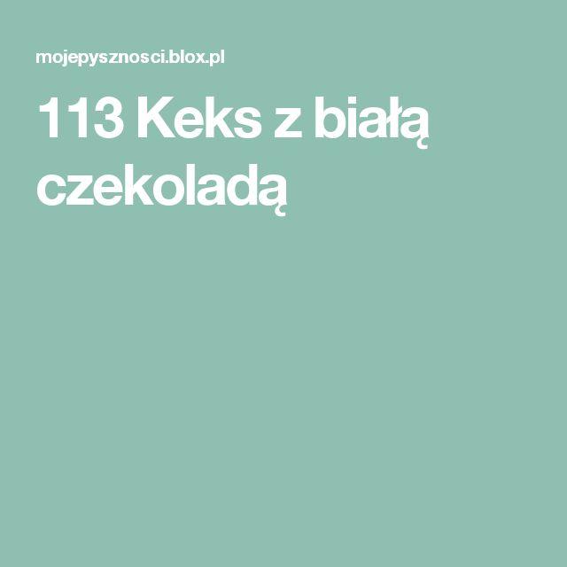 113 Keks z białą czekoladą