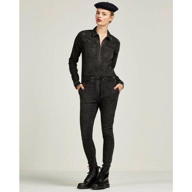 Zwarte Denim Jumpsuit van Only #denim #stoer #casual #Wehkamp #newfashion