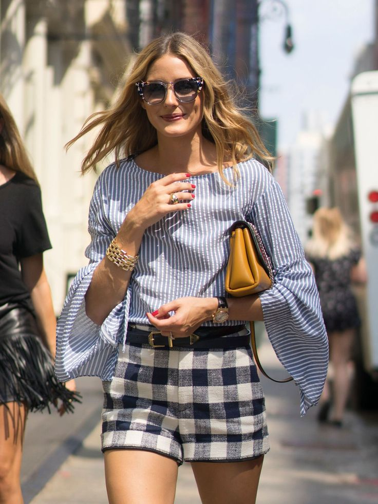 stripes + buffalo check. olivia palermo | coast's favourite new york fashion week 2016 street style looks | photography by tim regas.
