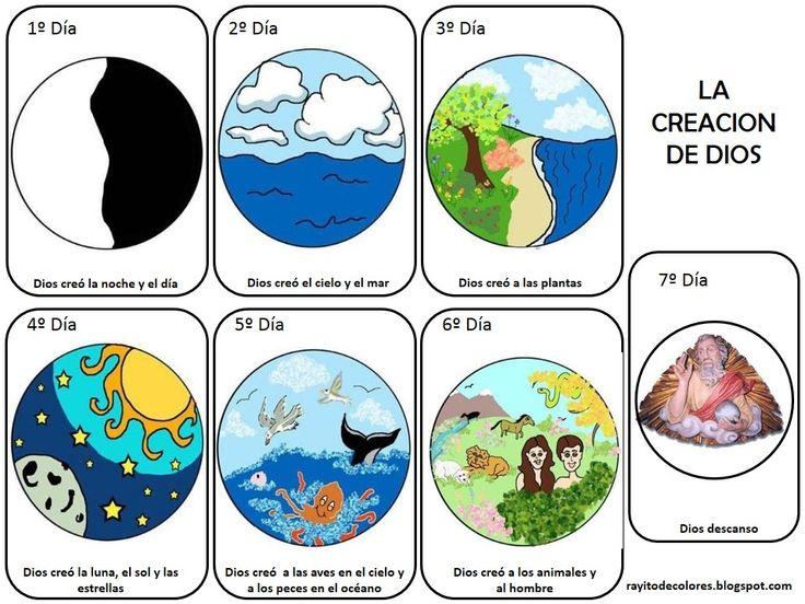 Mejores 9 im genes de la creaci n en pinterest creacion for En 7 dias dios creo el mundo