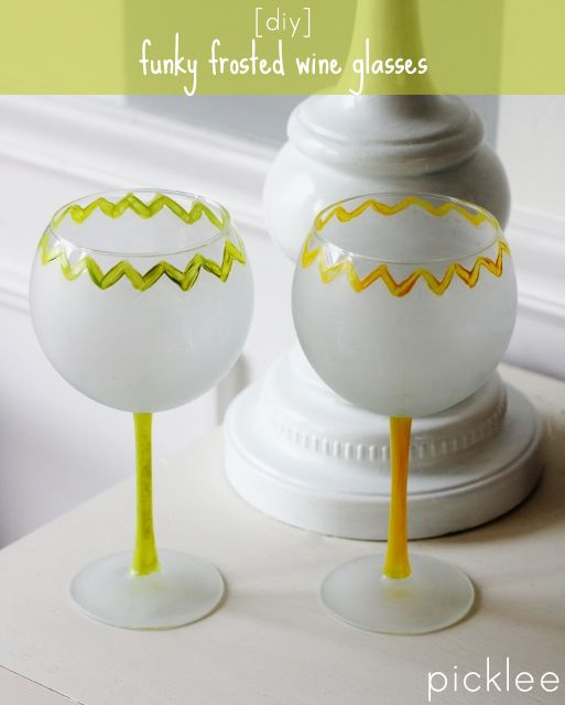 make these cool diyfrosted wine glasses to add