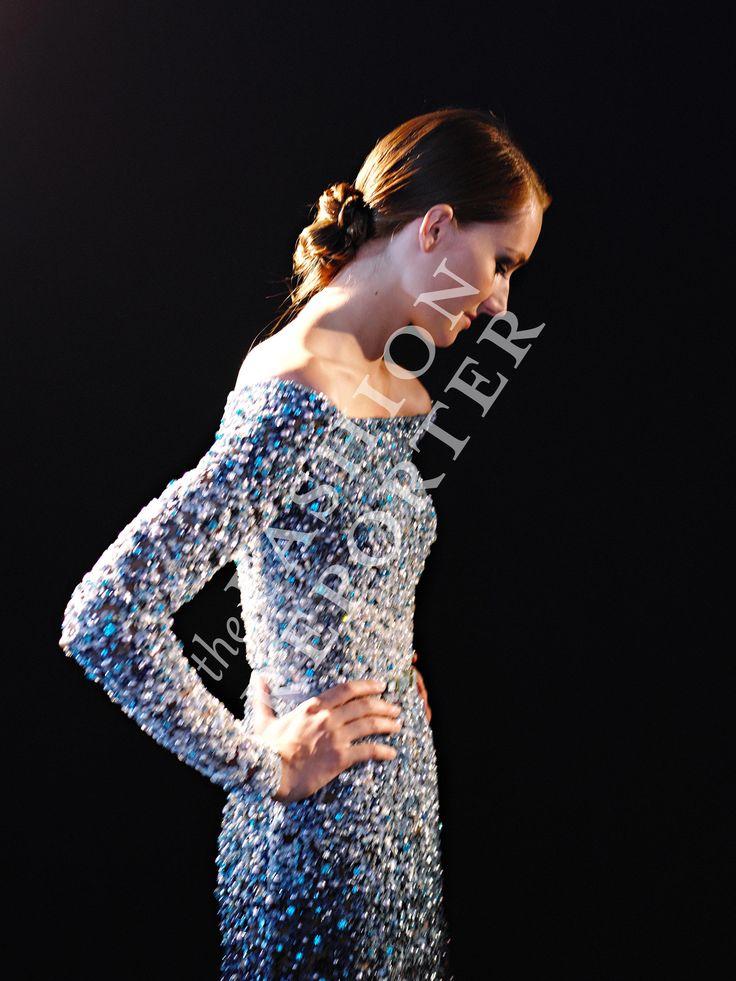 Josephine Le Tutour at Elie Saab Backstage | Haute Couture FW14-15 | Ph. Antonello Trio