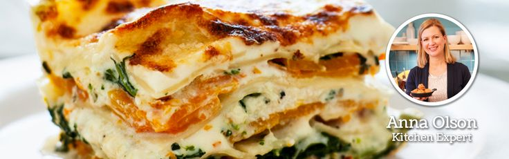 This lasagna recipe is about capturing the wintry tastes of squash and sage instead of tomatoes!