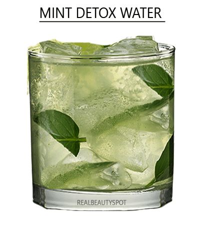Cucumber, mint and Lemon Detox cleansing water
