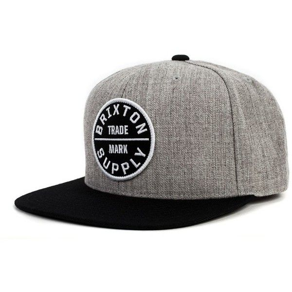 Brixton ($28) ❤ liked on Polyvore featuring accessories, hats, snapback hats, brixton cap, two tone hat, brixton snapback and snap back hats