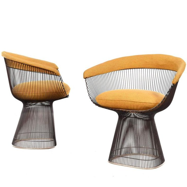Warren Platner Dining Chairs for Knoll | https://www.1stdibs.com/furniture/seating/dining-room-chairs/
