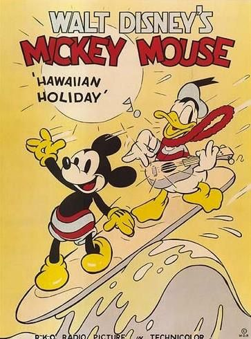Retro Mickey Mouse and Donald Duck