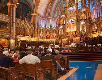 Notre-Dame Basilica of Montréal - Discover Notre-Dame Basilica. Every Friday there is an hour long organ concert at 2:30 pm for 10 bucks!
