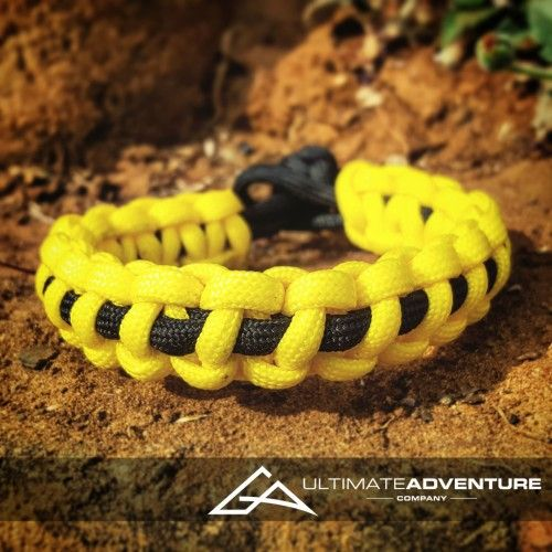 Yellow with Black Supporter Band Paracord Survival Bracelet from www.ultimateadventures.co.za  #yellow #black #supporterband #supporter  #bracelet #paracord #paracord550 #paracordsurvival #paracordsurvivalbracelet #survival #paracordporn #outdoorgear #survivalbracelet #survivalparacord #survivaladventure #edc #everydaycarry #adventure #survivalgear #adventuregear #adventurebracelet #ultimateadventure #ultimateadventureco #ultimateadventures #paracordon #cordcraft #craft #outdoorcraft