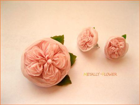 Английские розы из самозасывающей полимерной глины.