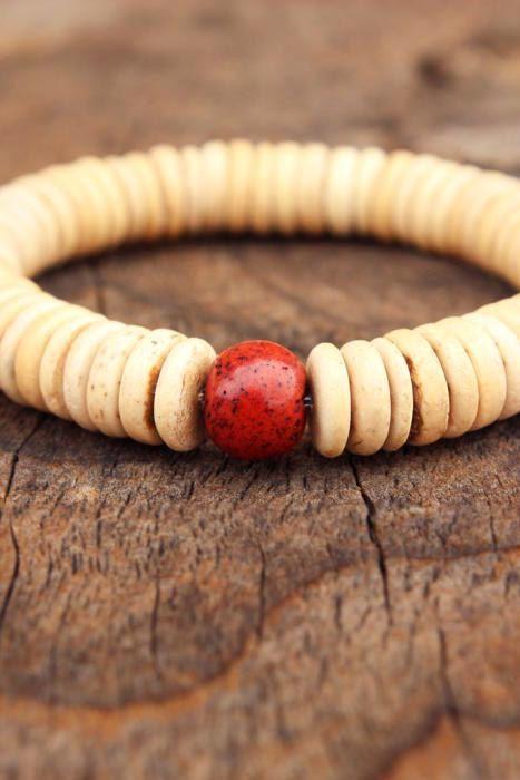 COCONUT Boho Bracelet Natural Organic by WildPeopleFreeSpirit