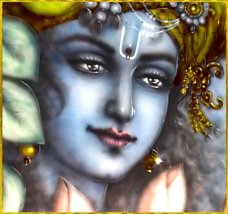 "♥~GOVINDA~♥  Artist: Mahendra Dubey    King Kulashekhara prays:  ""I always think of Lord Hari, whose joyful lotus face bears a gentle smile. Although He is the son of the cowherd Nanda, He is also the Supreme Absolute Truth worshiped by great sages like Narada.""~Mukunda-mala-stotra"