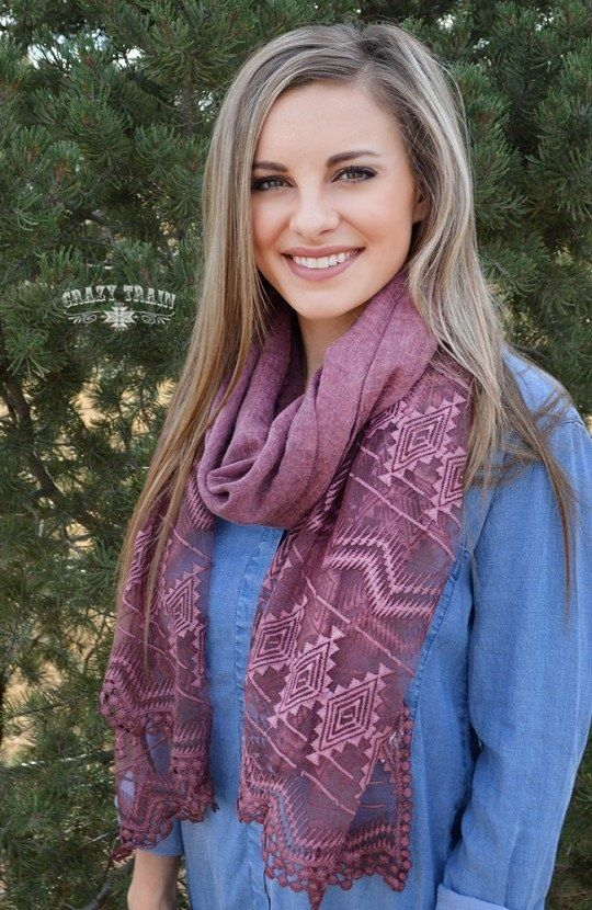 Long Crazy Train Scarf in 3 color options.