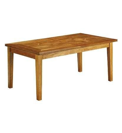 Malabar dining table, solid mango with marble inlay