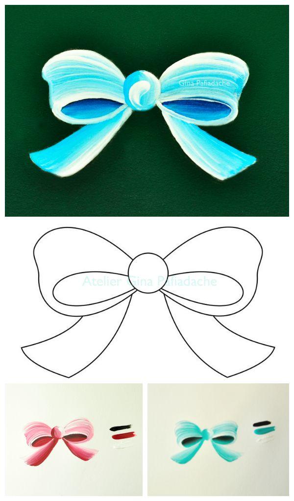 Atelier Gina Pafiadache: Como pintar um laço simples?