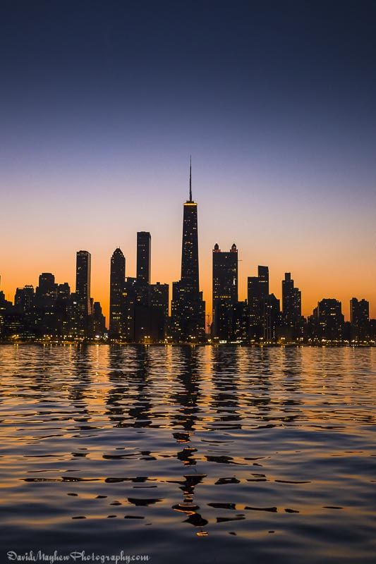 Liquid Sunset (Chicago) by David Mayhew Photography