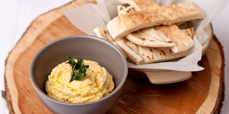 Richard Davies incorporates Greek yoghurt into his delicious hummus recipe to add body and richness to this much-loved dip