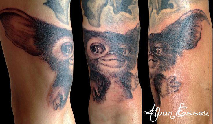 Portrait tattoo tatouage Gizmo - Alban Essex
