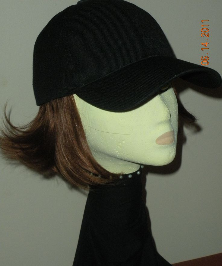 hats hair attached rainy day baseball cap
