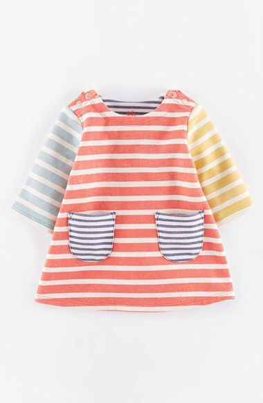 Free shipping and returns on Mini Boden 'Cosy' Sweatshirt Dress (Baby Girls) at Nordstrom.com. A classic A-line dress is totally cozy thanks to a brushed-on-the-inside cotton blend. Twin patch pockets keep the look lively and vibrant.